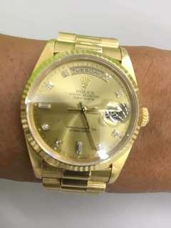 Rolex 18038金勞全原装可上行可交换