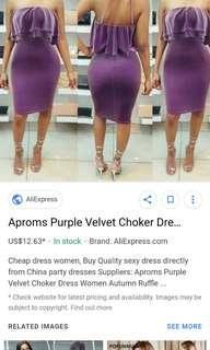 chocker midi dress