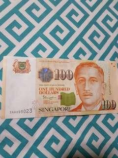 3AA S$100/- for collection