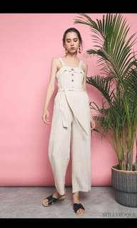 Brand New - Hollyhoque Marcelo Linen Jumpsuit Cream