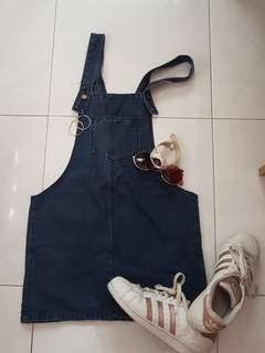Demin skirt overall