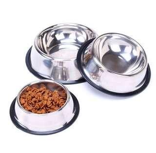 Stainless Steel Pet Food Water Bowl