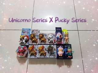 S>Unicorno Series X Pucky Series Collectible Figures