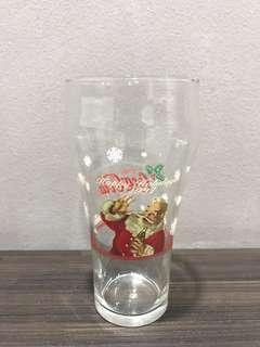 1997 Limited Edition Coke Happy Holidays Santa Glass Cup