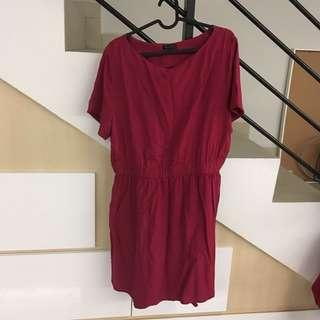 Zalora maroon dress