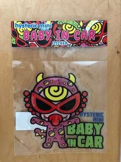 HYSTERIC MINI baby in car sticker 車貼 貼紙