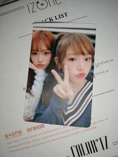 IZ*ONE PHOTOCARD YENA & CHAEWON