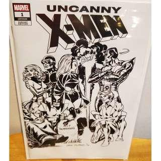 Uncanny X-men #1 (2018) black white Cockrum hidden variant wraparound NM