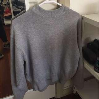 H&M grey mock neck knit jumper