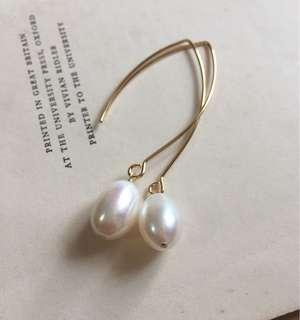 Freshwater Pearl Big Hook Earrings