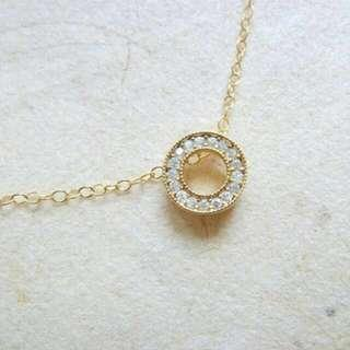 Eternity Cubic Zirconia 14k Gold Filled Necklace