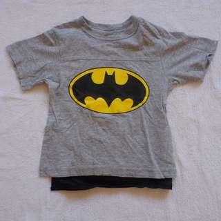 Batman shirt with detachable cape