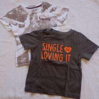 Toddler shirts (sold as set)