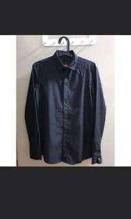 Mens black collared shirt