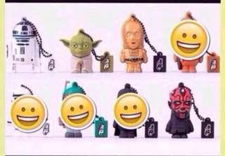 Lego 16 Gb USB Star Wars Flash Thumb Drive - R2-D2, Yoda, C-3PO, Darth Maul