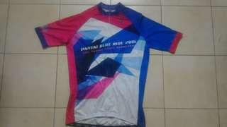 Preloved Cycling Jersey Cyclista Pantai Blue Ride