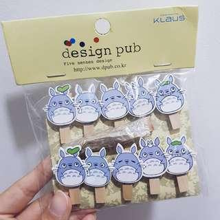 [wts] totoro wooden pegs
