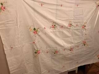 Embroidery rectangle table cloth brand new