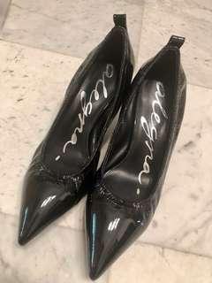 (REDUCED) Alegra Patent Black Leather Heels Size 35