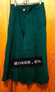 🚚 二手正韓墨綠微厚刷毛大寬褲,原價1800(匯款免運)