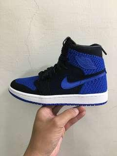 Nike Air Jordan 1 Flyknit OG Royal blue 黑藍 編織 一代 high retro