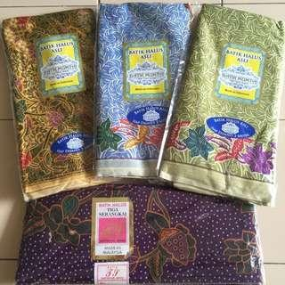 Assorted Original Batik Ready Sewn (1 Set Of 4pcs)