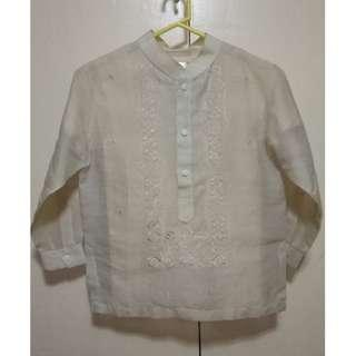 Barong Tagalog and T-shirt for Boys