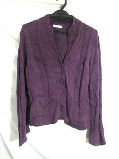 Knitted purple cardigan