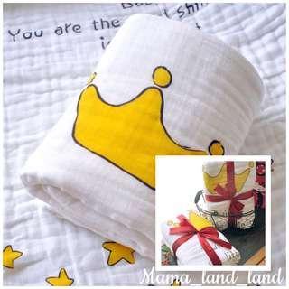 Lovely angel milestone superstar baby gauze towel / blanket