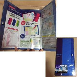 SALE 30% Off - BN sealed Kokuyo Color Tag A4 Compact Holder Tri-fold (suitable for maps/guides)