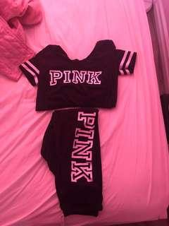 Pink track suit! Small top, extra small bottoms)