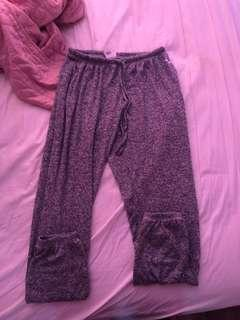 Pink track pants, (stretchy & comfy)