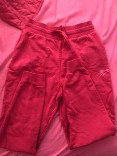 Reebok (pink sweat pants)