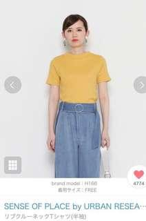 Urban research秋裝短袖衫