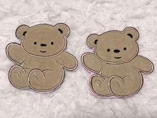 Iron On Patch Sewn On Cute and Adorable Teddy Bear, 10cm x 10cm