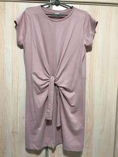 Lalu Pink Dress with front knot