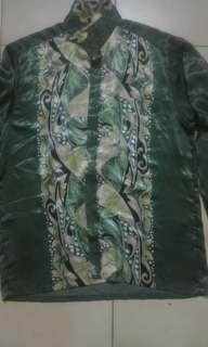 Preloved Formal Silk Batik Sutera Shirt