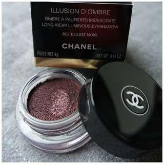 Chanel Eye Shadow chanel illusion d'ombre 857 rouge noir 眼影連掃