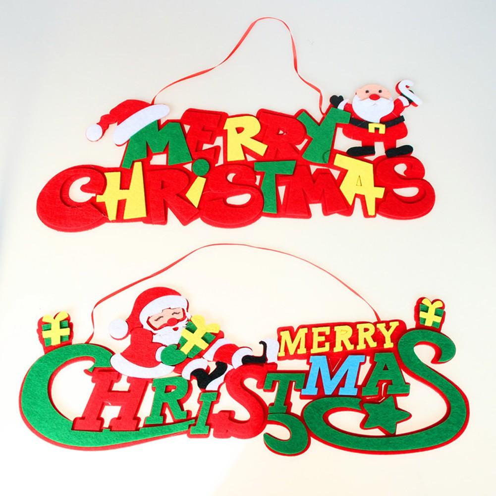 2pcs Christmas Tree Hanging Letter Decoration Santa Claus Ornaments