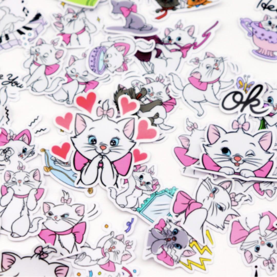Marie Cat Tumblr Planner Bujo Laptop Waterproof Stickers 40 Pcs