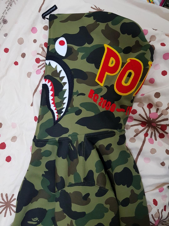 A Bathing Ape (BAPE) Camo Shark Full Zip Hoodie