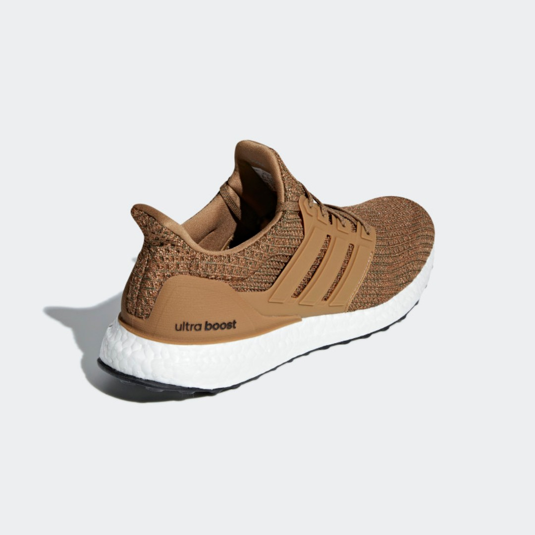 low priced 07376 6fe39 ADIDAS ULTRABOOST SHOES - RAW DESERTRAW DESERTBASE GREEN, Mens Fashion,  Footwear, Sneakers on Carousell