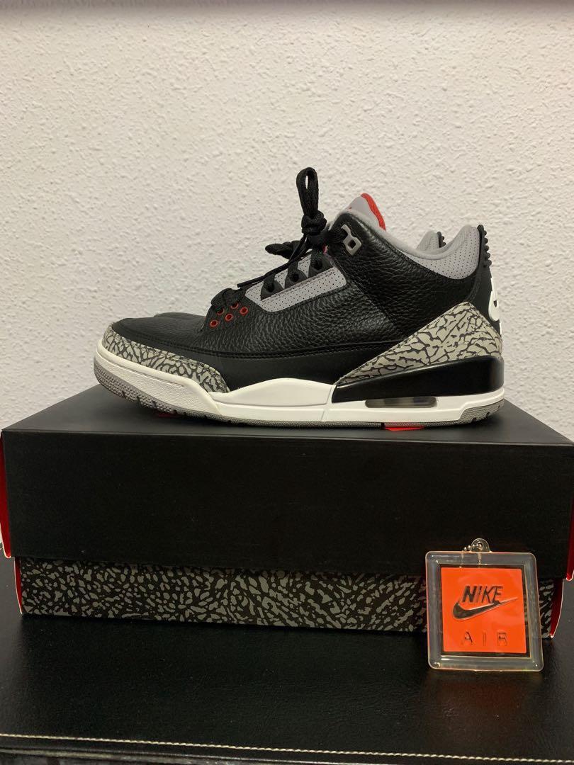 "c721d53797f3a Air Jordan Retro 3 OG ""Black Cement"""