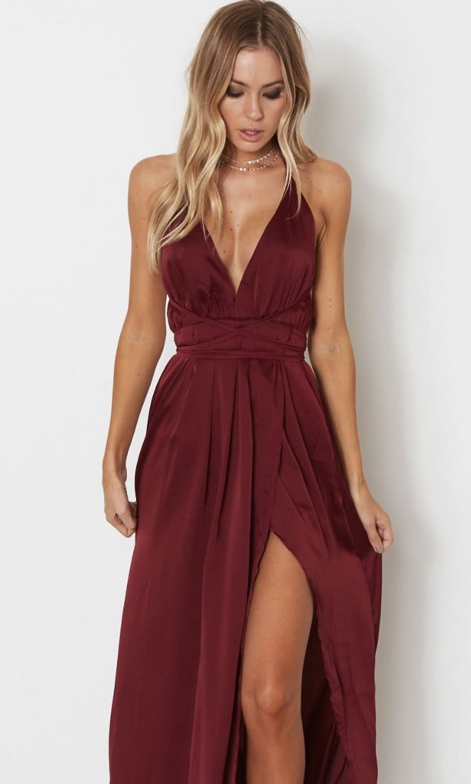 9c044a2cfd51 Akela Maxi Dress in Merlot, Women's Fashion, Clothes, Dresses ...