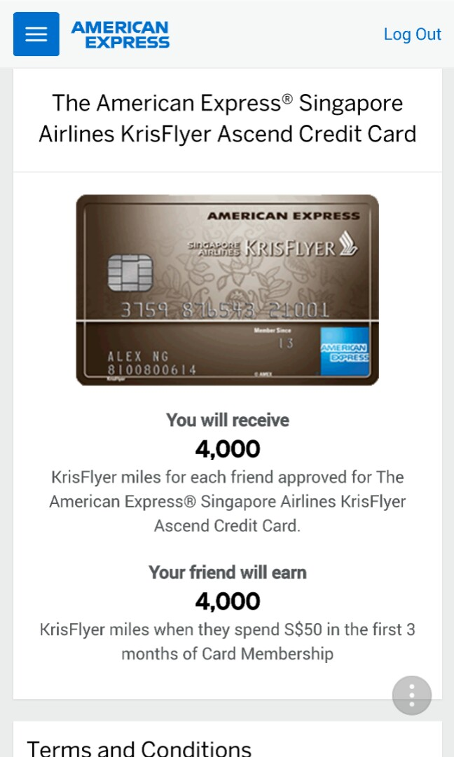 American Express Card Referral