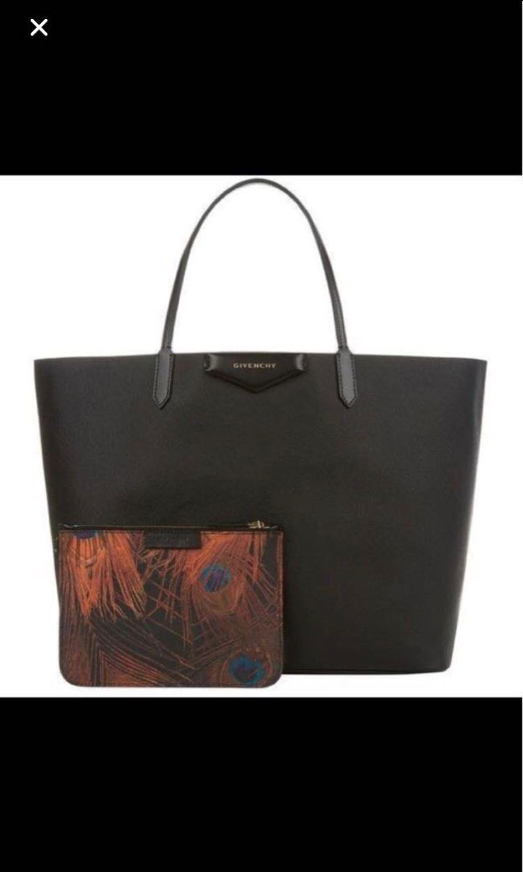 33f8ce399c Authentic Givenchy Antigona Peacock Print Shopper Tote, Black ...