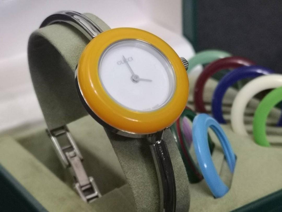 2600ba52521 AUTHENTIC GUCCI 12.2L Bezel Bangle Watch