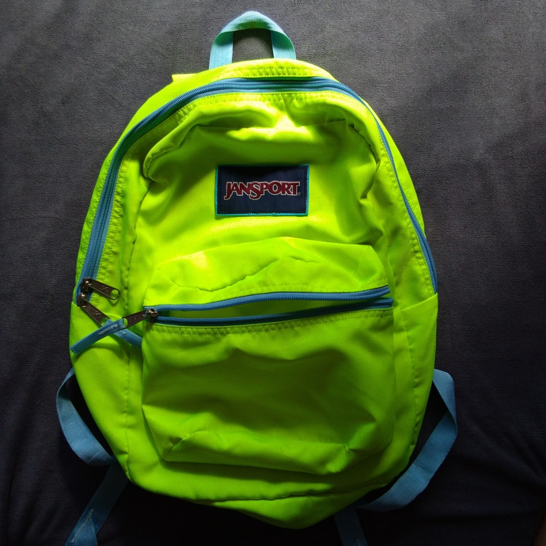 Authentic Jansport Neon Backpack 005e07bf51731