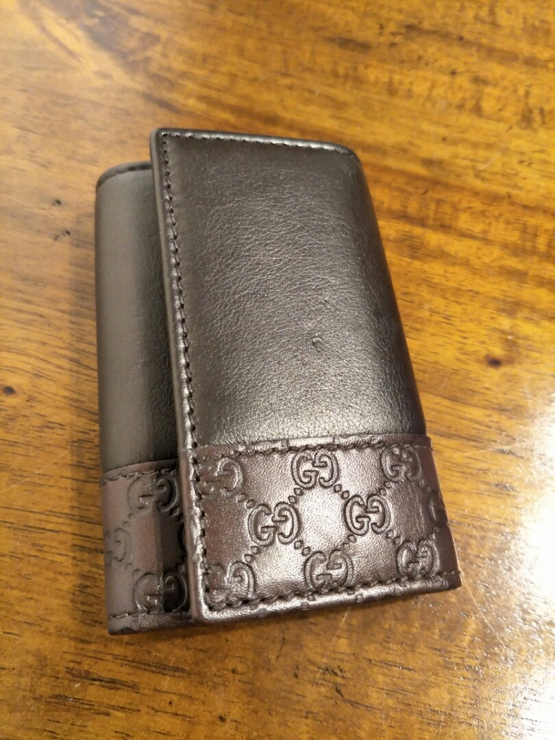 04f26fd4438a Authentic Leather Gucci Key Pouch holder, Luxury, Bags & Wallets ...