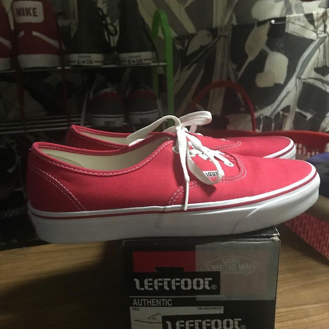 d1cbc63882 Authentic Vans Red Shoes size 9